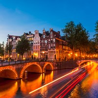 Canal in Amsterdam, the Netherlands/Holland